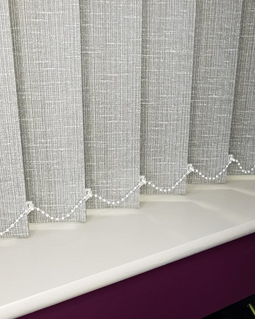 89mm Milano Grey Vertical Blind Replacement Slats Manchester Blinds