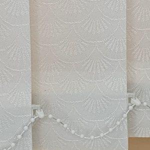 white blinds